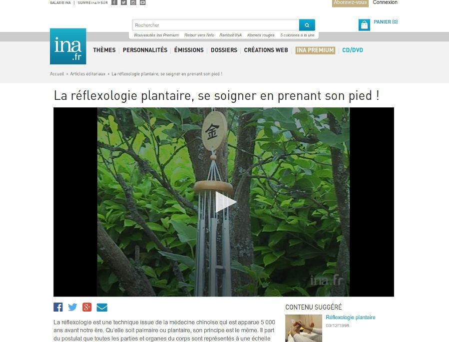 ina.fr reportages réflexologie plantaire